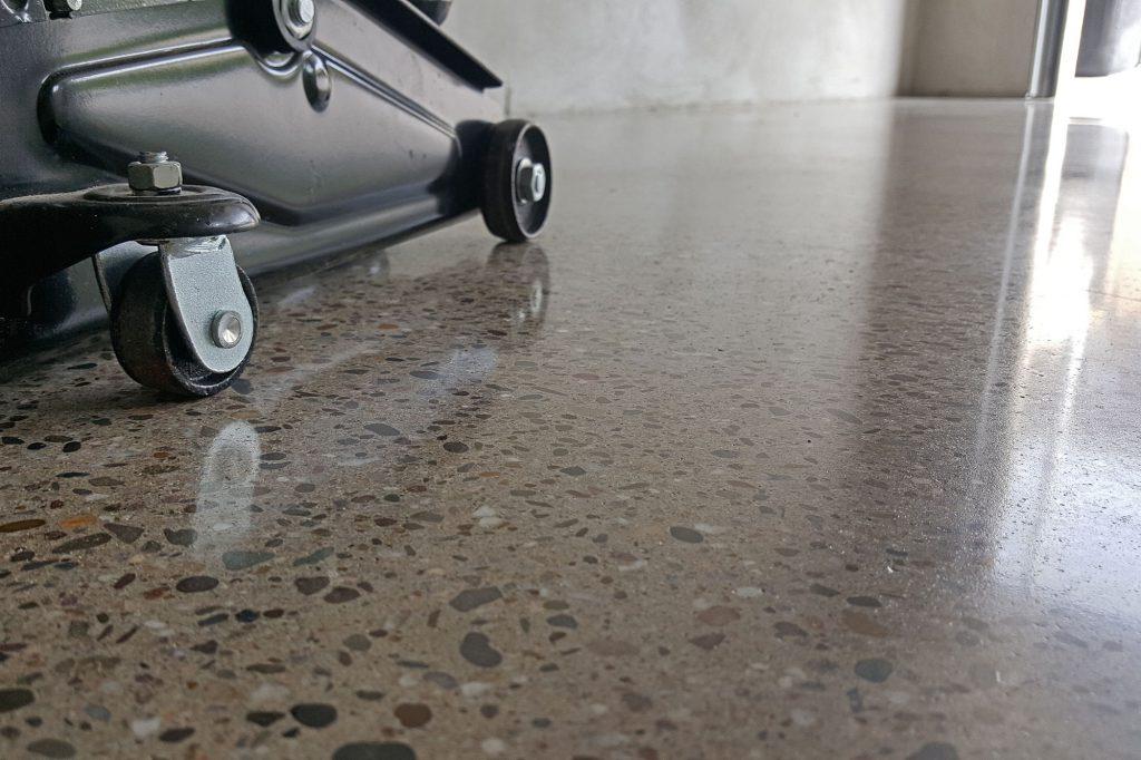 Beton Schleifen glatte Oberfläche Detailansicht